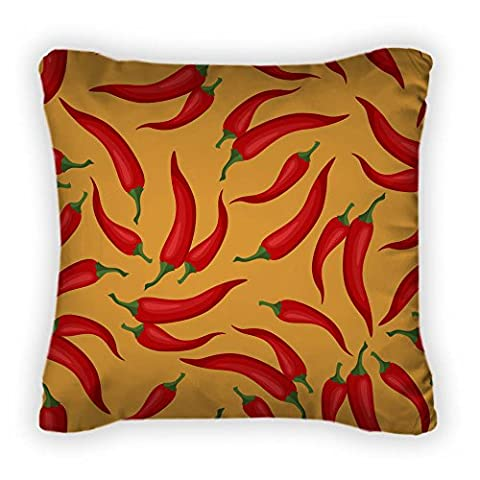 Gear New Pattern With Fresh Ripe Chili Throw Pillow, Poplin, 14x14, GN11183