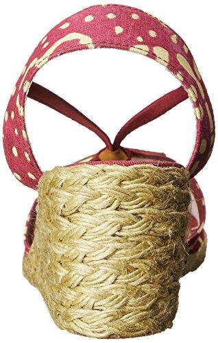 Lauren Ralph Lauren Cala Peep Zehe Textile Keilabsätze Pers/Wheat s65q3wzJ