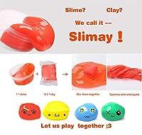 DIY Slime Kit - 24 Colores Kit de Slime Esponjoso con 48 brillantinas, Suministros de Slime Claro para niños, Incluye Arcilla Seca al Aire, rebanadas de Frutas y Herramientas de Youtuoyuan