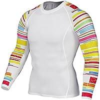 YiJee Manga Larga Tops T-Shirts Formación Aptitud Camiseta Secado Rápido Deportiva Compresión ...