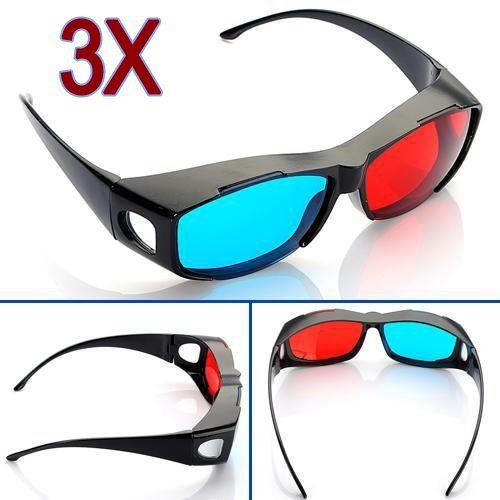 3 Rot Blau Cyan NVIDIA 3D VISION Brille Kurzsichtigkeit Allgemeine (Vision Brille Nvidia 3d)