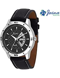 Jainx Black Dial With Pattern Analog Watch For Men & Boys - JM212