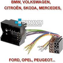 ISO-FAKRA - Conector iso universal para instalar radios con conector iso universal: BMW, Volkswagen, Opel, Peugeot, Citroen, Mercedes...