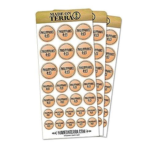 Bible Verse Philippians 4-13 Removable Matte Sticker Sheets Set