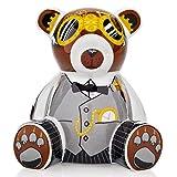 RITZENHOFF 2590014 Mini Teddy Bär A. Olabuenaga H12 Bank Spardose, Porzellan, bunt, 7,5 x 9,5 x 10,5 cm
