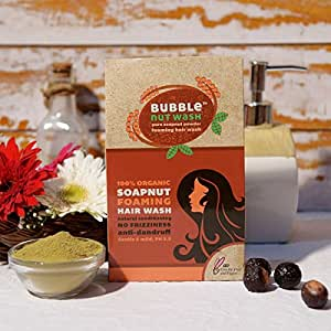 Bubblenutwash - Organic Soapnut Hairwash Powder, 100gm, Set of 2