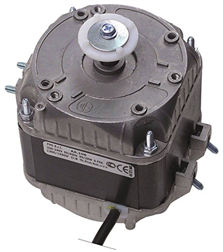 Lüftermotor AA.106 230V 25W 1300/1550 U/min 50Hz 5 Befestigungsoptionen Breite 84mm Kabel 500mm Gleitlager Länge 88mm L2 69mm