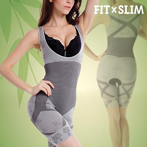 FitxSlim Bamboo Shapewear Unibody - Faja reductora y moldeadora, talla XL, color gris