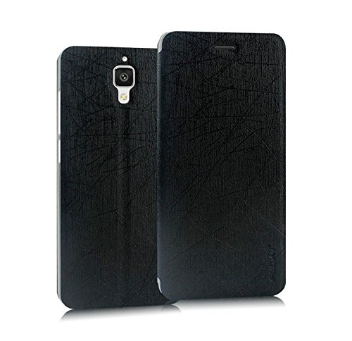 Pudini® Yusi Rain Series Leather Flip Cover Stand Case for Xiaomi Mi4 - Black  available at amazon for Rs.198