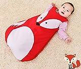 Himom Cartoon Baby Sleeping Bag sleep bag Sack Swaddle Cotton for 0-3Years (0-1Year, Fox)
