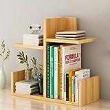 2-Tier-Cut-Out Regal WPC Desktop Organizer Weiß Lagerregal für Home Küche Büro Schlafzimmer Badezimmer-L40cm * W17cm * H40cm (Farbe : Natürlich)
