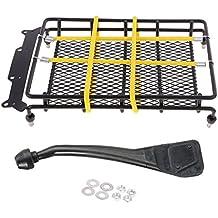 Baoblaze 1/10 Portaequipajes con Correa Cordón + Snorkel Conjunto de Accesorios para 1/10 RC Coche Camión RC4WD D90