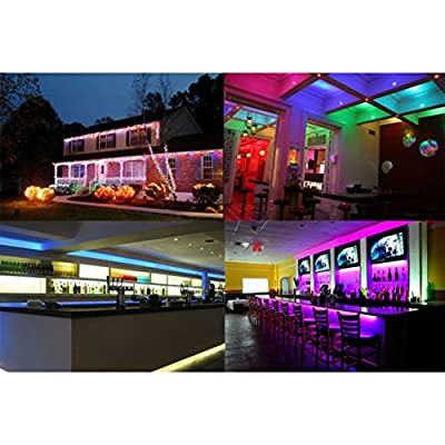 4Packs 3W E27 RGB Full Color LED Bulb Crystal Auto Rotating Stage Effect DJ Disco Light Bulb Mini Laser Party Stage Light