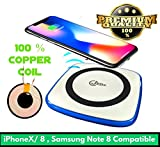 #2: Wireless Charger for iPhone X iPhone 8,,iPhone X / iPhone 8 / iPhone 8 Plus,Samsung Galaxy Note8, Samsung Galaxy S8/S8 Plus,Galaxy S7 Edge/Galaxy S7, Galaxy S6 Edge plus / Galaxy Note 5 Qi Certified with Anti-Slip Rubber