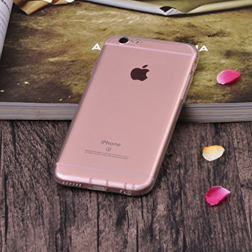Infinite U Jewellery Transparent Souple TPU Gel Case/Coque/Etui de Téléphone Mobile pour iPhone 6/6s (4.7 Pouces) Femme Blanc