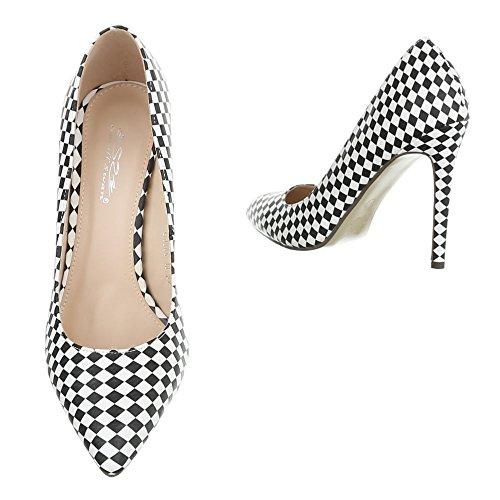 Design compensées Ital chaussures blanc femme noir EZAqFd