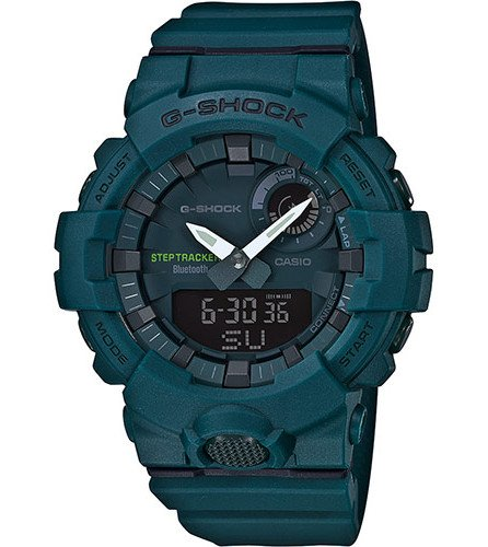 Casio Herren Analog Quarz Smart Watch Armbanduhr mit Harz Armband GBA-800-3AER