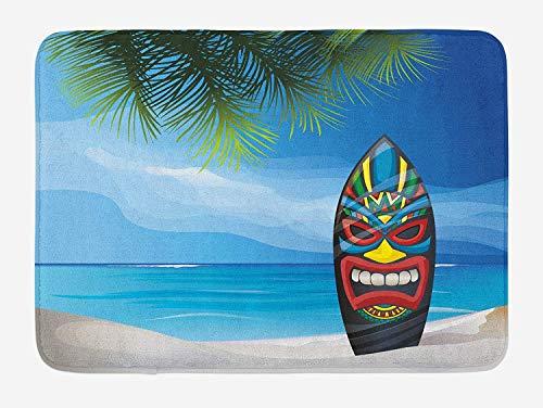Baby Mild Bar Soap (ZiJface Tiki Bar Bath Mat, Tiki Warrior Mask Design Surfboard on Ocean Beach Abstract Landscape Surf Print, Plush Bathroom Decor Mat with Non Slip Backing, 31.69 X 19.88 Inches, Multicolor)