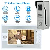 KKmoon 7 Inch Door Viewer Video Doorbell and Home Security Camera Monitor Intercom