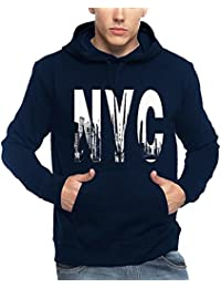 Adro Men's NYC Printed Cotton Hooded Sweatshirt