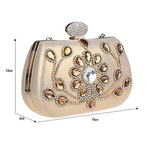 HT Evening Bag, Poschette giorno donna Champagne