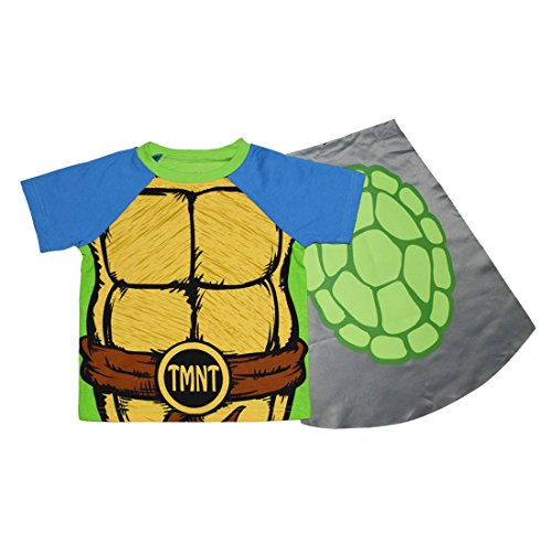 2 PCS SET Teenage Mutant Ninja Turtles Toddler Jungs T-Shirt mit abnehmbarem Kap 2T Multicolor (Shirt 2t 2)
