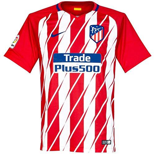 Nike Atm M Nk Brt Stad Jsy Ss Hm Camiseta de Manga Corta, Hombre, Rojo (Sport Red/White/Deep Royal Blue), L