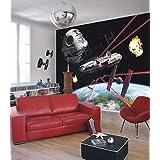 """Komar 1–""""Star Wars Millennium Falcon de papel pintado de, Multicolor, 8"""