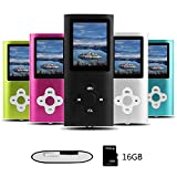 Btopllc MP3/MP4 Digital Music Player 16 GB interne Speicherkarte, tragbare und kompakte MP3/MP4-Musik-Player, Media Player, Video Player, Video, E-Book, Picture Music Player - schwarz19