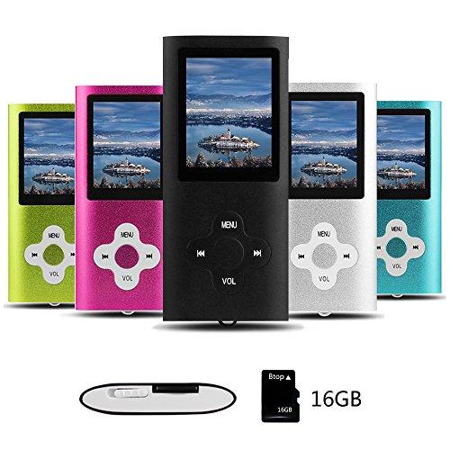 Btopllc MP3/MP4 Digital Music Player 16 GB interne Speicherkarte, tragbare und kompakte MP3/MP4-Musik-Player, Media Player, Video Player, Video, E-Book, Picture Music Player - schwarz19 (Video-mp3-player Tragbaren)