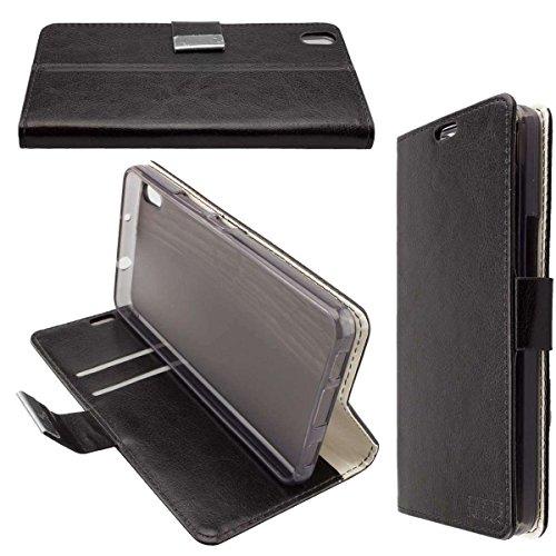caseroxx Hülle/Tasche Bookstyle-Case Medion Life S5504 MD 99774 Handy-Tasche, Wallet-Case Klapptasche in schwarz