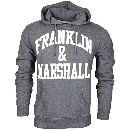Franklin-Marshall-Embroidered-Arch-Logo-Black-Melange-Hoodie