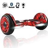 Magic Vida Skateboard Électrique 10 Pouces puissances 700W avec Haut Parleur Bluetooth et LED Balance Board Auto-Équilibrage pour Enfants et Adultes Sac de Transport+Télécommande (Bleu Galaxy)