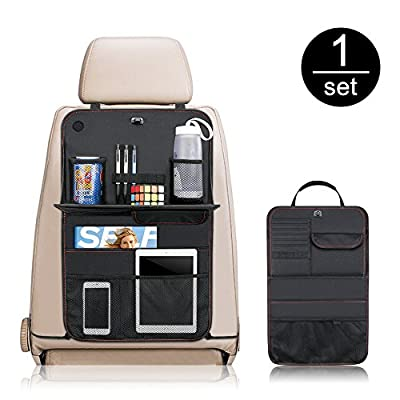 Car Back Seat Organizer with Tray Table?Komake Car Backseat Storage Organizer Seat Protector With Multi Pockets and Foldable Dining Table Table Tray-1Pack - low-cost UK light store.