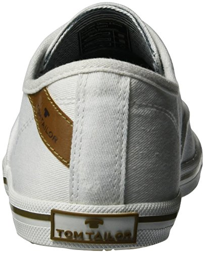 Tom Tailor 2791405, Sneaker Donna Bianco