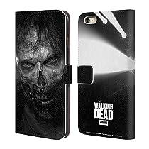 Officiel AMC The Walking Dead Regarder Fixement Logo Étui Coque De Livre En Cuir Pour Apple iPhone 6 Plus / 6s Plus