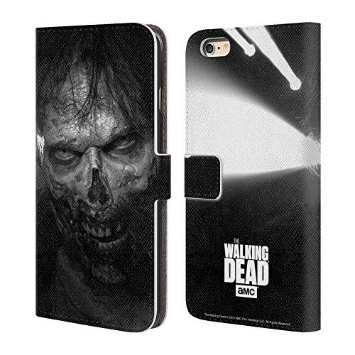 Officiel AMC The Walking Dead Regarder Fixement Logo Étui Coque De Livre En Cuir Pour Apple iPhone 6 Plus / 6s Plus, Coques iphone