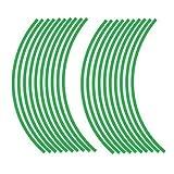 JOllify REFLEKTIERENDE Felgenrandaufkleber für dein Fahrrad, MTB, Downhill, Freeride, Dirt, Fully, Hardtail, usw. - grün