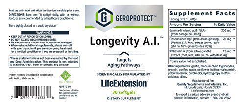 Life Extension Geroprotect Longevity A.I. – 30 Softgels