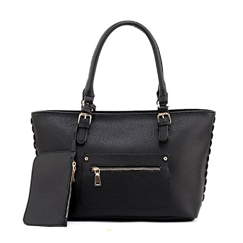 AiteFeir Borsa in pelle Hobo delle donne Totes scuola borsa di grandi dimensioni borsa di modo nero