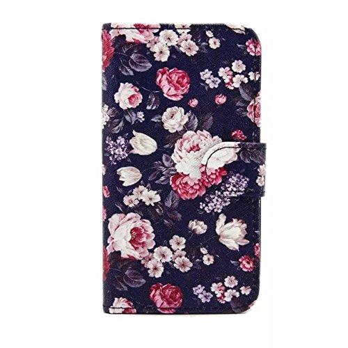 Sunroyal Chic Klapptasche Wallet Case Kunstlederhülle für Samsung Galaxy Grand Prime G530/G530H/G530FZ/G5308W/G5309W/G5306W SM-G530FZ - Cover Flip Tasche Schwarz Design Luxus Magnetic Flip Case mit Ka Pattern 12