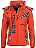 Geographical Norway Damen Softshelljacke Romantic flashy coral/blue L