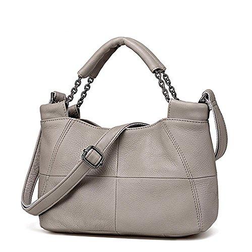 XDDB Leder-Weiche Leder-Beiläufige Schulter Messenger Medium Damen Tasche