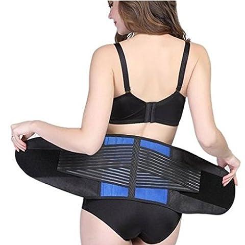 Rückenstützgürtel, Neopren, verstellbar, atmungsaktiv, Unterstützung für den Lendenwirbelbereich Gr. L, Blau / Schwarz