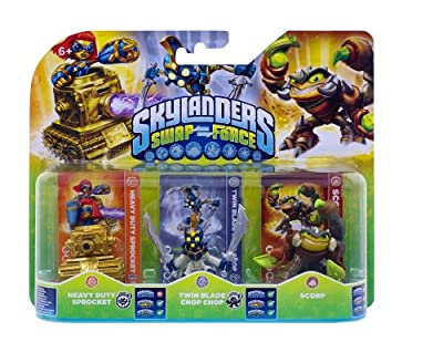 Skylanders Swap Force - Triple Character Pack - Scorp, Chop Chop, Sprocket (Xbox 360/PS3/Nintendo Wii U/Wii/3DS) from Activision