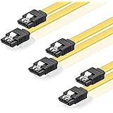 SET - 3x deleyCON [0,5m] S-ATA 3 Kabel - PREMIUM SATA 3 HDD / SSD Datenkabel mit Clip - 2x Stecker gerade - Übertragungsraten bis zu 6 GBit/s - flexibles PREMIUM S-ATA 3 Kabel - schnelle und sichere Datenübertragung - passgenaue, stabile Stecker mit Verriegelung - abwärtskompatibel - Länge: 50cm / Farbe: Gelb