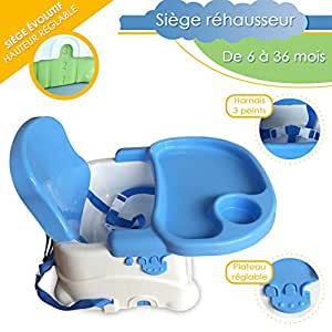 b b lol si ge r hausseur volutif pour b b coloris au choix bleu b b s. Black Bedroom Furniture Sets. Home Design Ideas