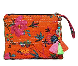 The House Of Tara Kantha Work Clutch HTCL 09