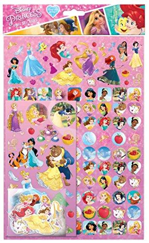 9 Aufkleber, Motiv: Disney-Prinzessin, 150 Stück (Disney Sticker)