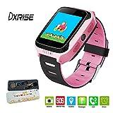 dxrise Smart Watch Kids Smartwatch per bambini ragazzi ragazze giocattolo orologio polso con schermo touch Bambino GPS TRACKE Smart Telefono Supporto SIM Sport monitor Call Location Finder Timer